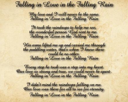 Falling Rain Canvas Print 30x24