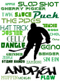 customized hockey Canvas Print 12x16