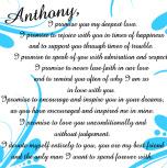 my vows 10 x 10 Custom Canvas Print