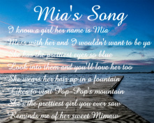 Mia's Song Canvas Print 30x24