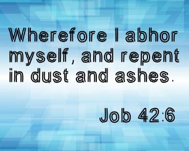 Job 42:6 Canvas Print 10x8