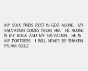 Psalm 62:1,2 Rev Canvas Print 10x8
