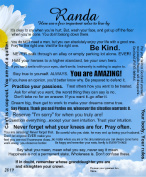 Rules for Karlee Canvas Print 20x24