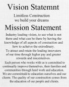 Vision and mission statement Canvas Print 16x20
