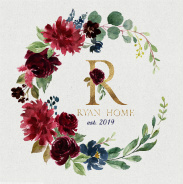 Ryan Home est 2019 36 x 36 Custom Canvas Print