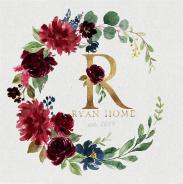 Ryan Home Set Gray 36 x 36 Custom Canvas Print
