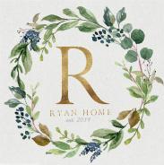 Ryan Home - green 36 x 36 Custom Canvas Print