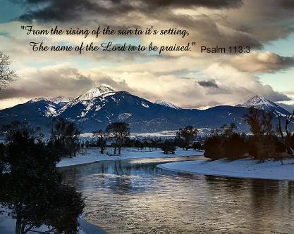 Psalm 113:3 Canvas Print 20x16