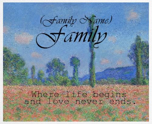 Design #48538 (Family) Canvas Print 30x24