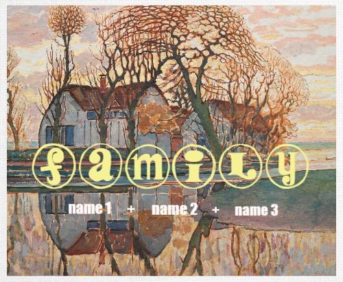 Design #48548 (Family) Canvas Print 14x11