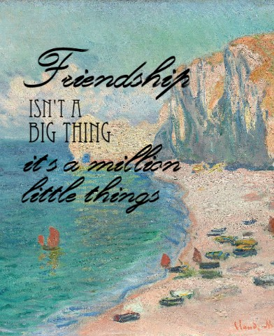 Design #49117 (Friendship) Canvas Print 24x30