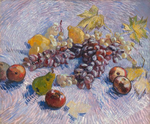 Still Life with Apples, Pears, Lemo Canvas Print 20x16
