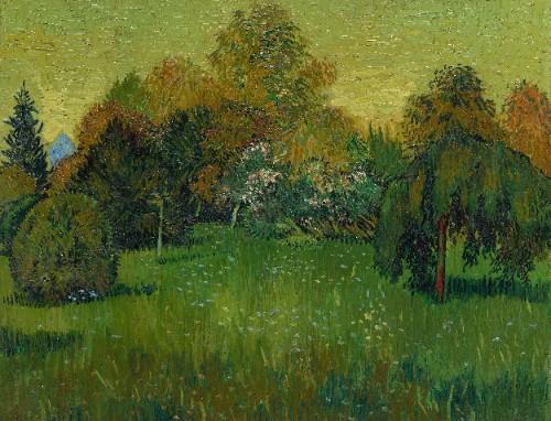 Poet's Garden by Vincent Van Gogh 14 x 10 Custom Canvas Print