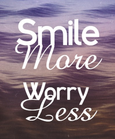 Smile More Worry Less Canvas Print 16x20