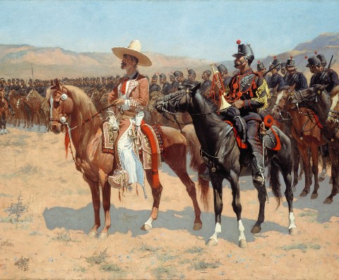 The Mexican Major - 1889 by Frederi Canvas Print 20x16