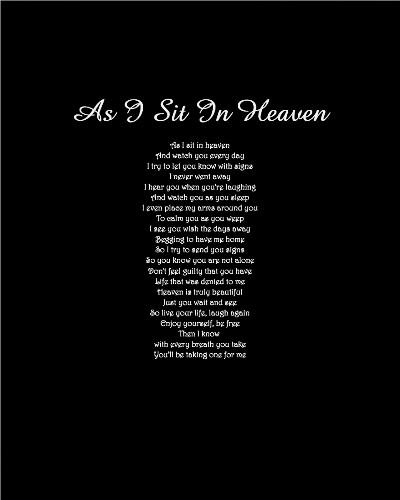 As I Sit In Heaven 8 x 10 Custom Canvas Print XPress