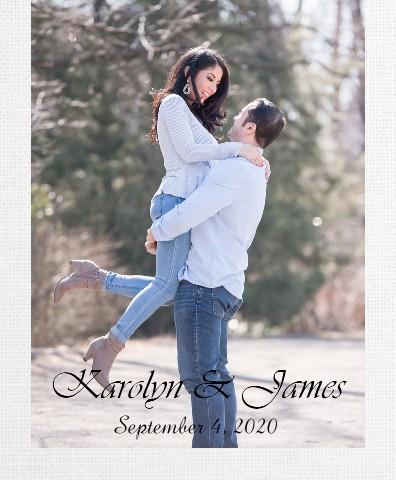 Jimmy and Karolyn Canvas Print 16x20