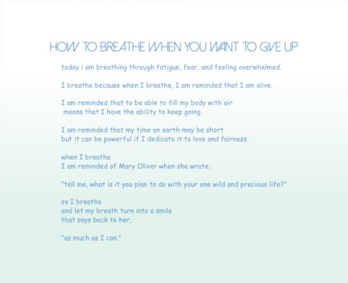 How to Breathe When you Want To Giv 14 x 11 Custom Canvas Print XPress
