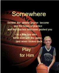 Play for Him 11 x 14 Custom Canvas Print XPress