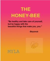 honeybee 4 myla 11 x 14 Custom Canvas Print XPress