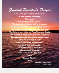 Funeral Director's Prayer 11 x 14 Custom Canvas Print XPress