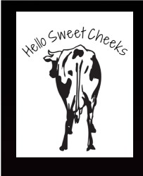 holy sweet cheeks 11 x 14 Custom Canvas Print XPress