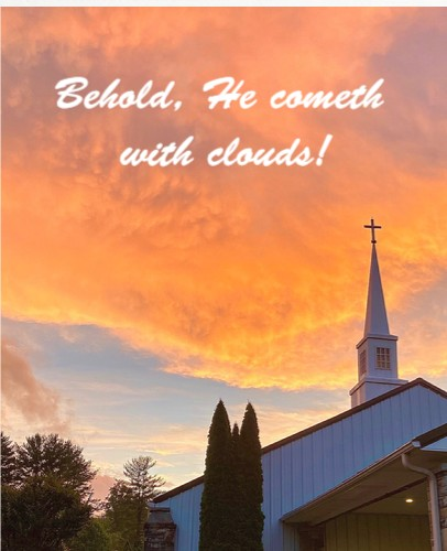 He Cometh With Clouds!  24 x 30 Custom Canvas Print XPress