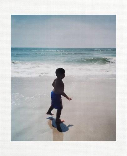 Beach Baby 11 x 14 Custom Canvas Print XPress