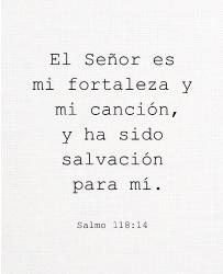 Salmo 118:14 11 x 14 Custom Canvas Print XPress