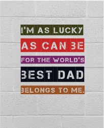 Father's day canvas 16 x 20 Custom Canvas Print XPress