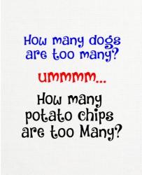 Dogs VS Chips 11 x 14 Custom Canvas Print XPress