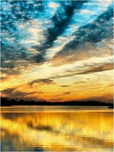 Sunset Canvas Print 12x16