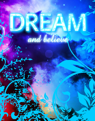 Dream and Believe Canvas Print 11x14