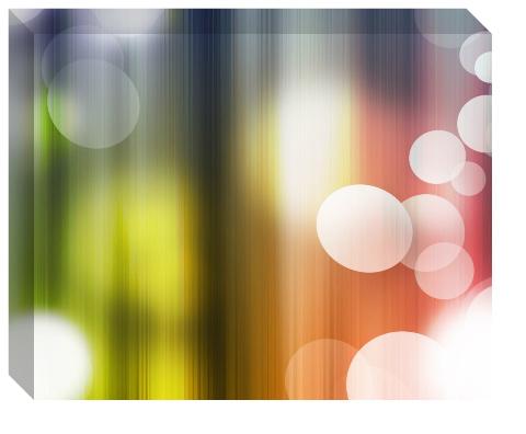 Rainbow Bubbles Canvas Print 20x16