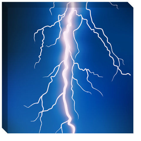 Lightning Bolt Canvas Print 24x24