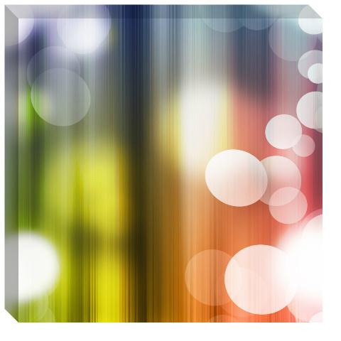 Rainbow Bubbles Canvas Print 24x24