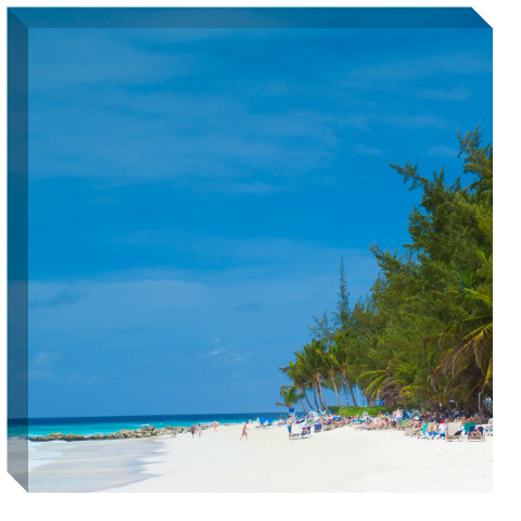 Beachfront Canvas Print 24x24