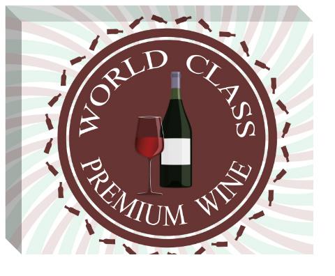 Premium Wine Logo Canvas Print 20x16