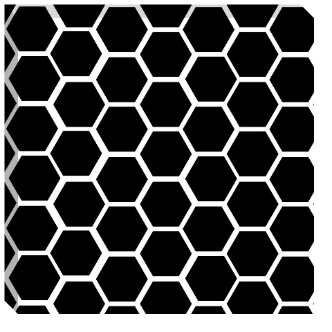 Black Honeycomb Canvas Print 24x24