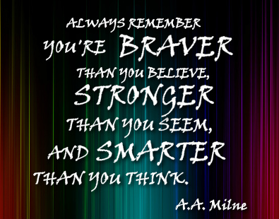 A.A. Milne Quote Canvas Print 14x11