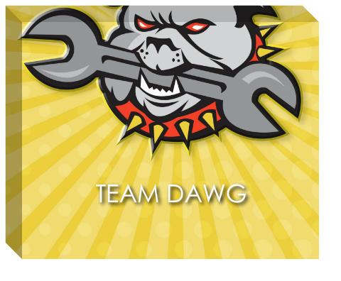 Team Dawg Canvas Print 20x16