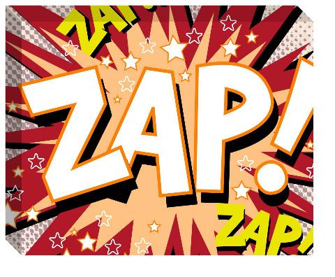 Zap! Canvas Print 20x16