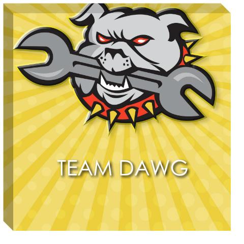Team Dawg Canvas Print 24x24