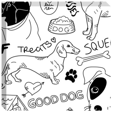 Good Dog Canvas Print 24x24