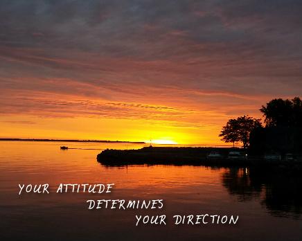 Your Attitude Determines Your Direc Canvas Print 30x24