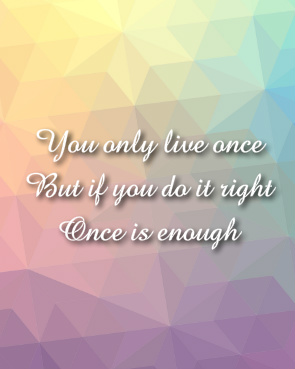 You Only Live Once Canvas Print 8x10