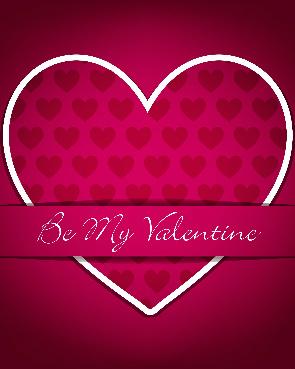 Be My Valentine Canvas Print 8x10