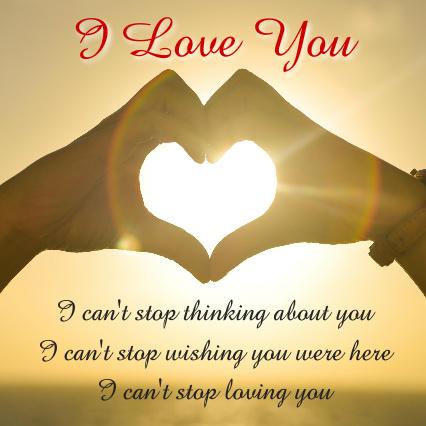I Love You Poem Canvas Print 24x24