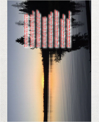Sunset 11 x 14 Custom Canvas Print XPress
