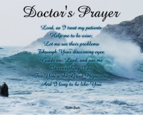 Doctor's Prayer Canvas Print 20x16